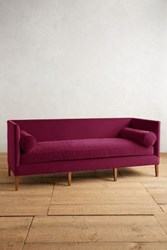 Anthropologie Velvet Harper Sofa Sangria