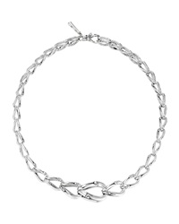 Bamboo Graduated Silver Necklace 17'L John Hardy