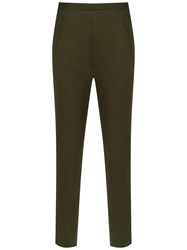 Andrea Marques Cigarette Cropped Trousers Green