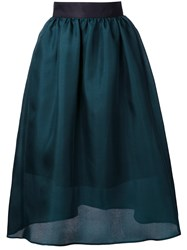 Le Ciel Bleu Midi Full Skirt Green