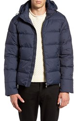Pyrenex Men's Spoutnic Water Repellent Down Jacket With Detachable Hood Navy