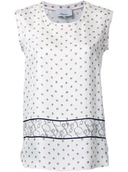 3.1 Phillip Lim Printed Satin Tank Top White