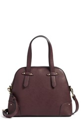 Sole Society Christie Faux Leather Satchel Red Oxblood