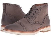 Frye Joel Brogue Chukka Charcoal Soft Nubuck Men's Shoes Brown