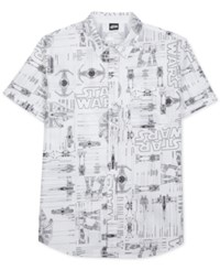 Jem Men's Star Wars Blueprint Short Sleeve Shirt