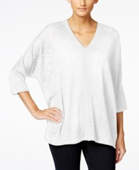 Styleandco. Style And Co. Crochet Trim Knit Top Only At Macy's