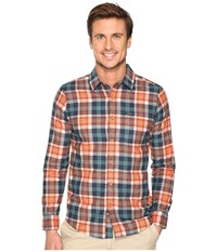 Volcom Hayden Long Sleeve Flannel Papaya Men's Clothing Orange