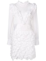 Genny Victorian Short Dress White