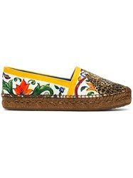 Dolce And Gabbana Majolica Espadrilles Multicolour