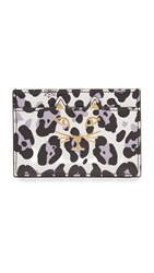 Charlotte Olympia Feline Card Holder Black And White Leopard Print