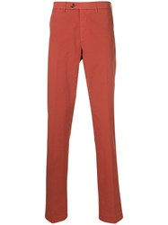 Canali Classic Chinos Red
