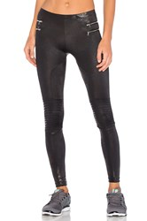 Blue Life Zipper Moto Legging Black