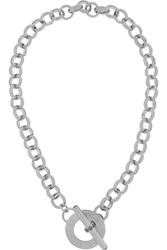 Marc By Marc Jacobs Toggle Silver Tone Necklace