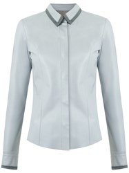 Talie Nk Leather Shirt Women Leather 38 Grey