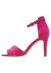 Buffalo High Heeled Sandals Fuschia Pink