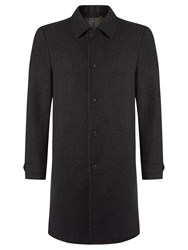 John Lewis Wool Cashmere Tailored Overcoat Charcoal