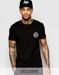 Hype T Shirt With Crest Logo Black
