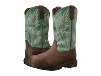 Ariat Tracey Pull On H20 Oily Distressed Brown Turquoise Cowboy Boots