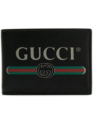 Gucci Print Leather Coin Wallet Black