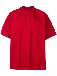 Acne Studios Oversized T Shirt Red