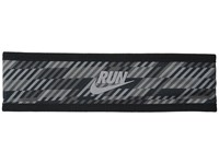 Nike Run Hazard Headband Black Dark Grey Reflective Silver Headband