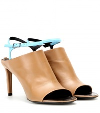 Balenciaga Spy Leather Sandals Brown