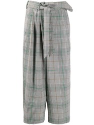 Christian Wijnants Pola Checked Cropped Trousers 60