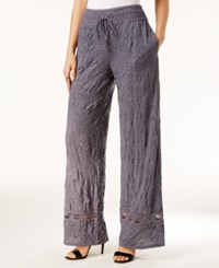Inc International Concepts Crocheted Wide Leg Pants Only At Macy's Denim Wash