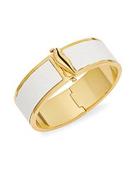 Diane Von Furstenberg Love Is Life Bangle Bracelet White