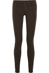 Vince Mid Rise Skinny Jeans Brown