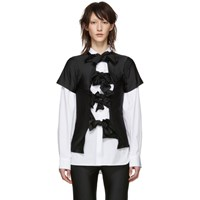 Comme Des Garcons Black Multiple Bow Tie T Shirt
