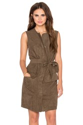 Shades Of Grey Sleeveless Trench Shift Dress Olive