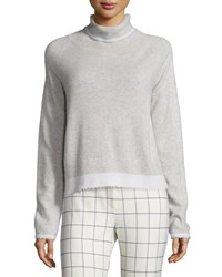 Derek Lam 10 Crosby Knit Turtleneck Sweater Light Gray Soft White Size S Lt Grey Soft Wht