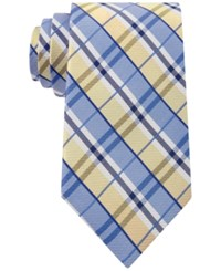 Club Room Men's Seashore Plaid Classic Tie Only At Macy's Yellow