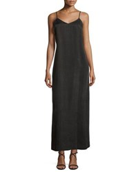 Nic Zoe Long Cami Slip Dress Black Onyx