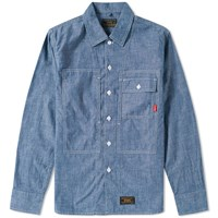 Wtaps Deck Chambray Shirt Blue