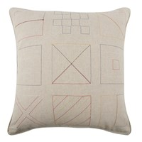 Thomas Paul Flags Embroidered Pillow Multicolor