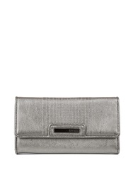 Kenneth Cole Reaction Never Let Go Trifold Flap Clutch Gunmetal