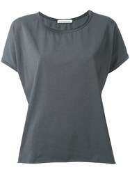 Stefano Mortari Raw Hemmed T Shirt Grey