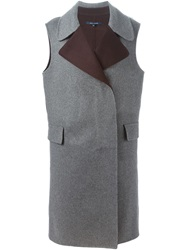 Sofie D'hoore Sleeveless Double Breasted Coat Grey