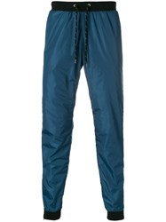 Andrea Crews Side Stripe Track Pants Blue