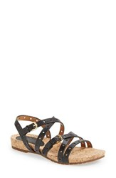 Women's Sofft 'Malana' Leather Sandal Black