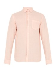 Solid And Striped The Button Down Linen Shirt Pink