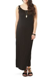 Evans Plus Size Women's Stretch Knit Maxi Dress Black