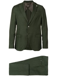Manuel Ritz Single Breasted Suit Green