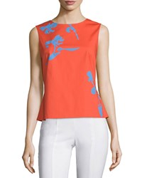 Tory Burch Blaine Tie Back Printed Shell Women's