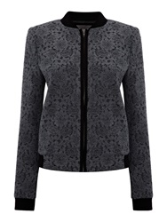 Pied A Terre Lace Bomber Jacket Grey