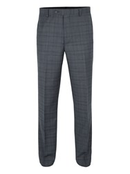 Paul Costelloe Men's Clyde Wool Checked Suit Trousers Grey