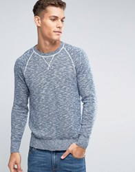 Abercrombie And Fitch Crew Jumper Retro Slub Knit In Navy Navy