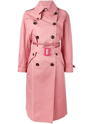 Golden Goose Deluxe Brand Pleated Back Trench Coat Pink And Purple